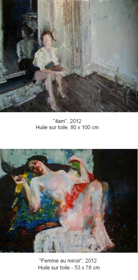 "Nushka paintings ""4am"" and ""Femme au miroir"""